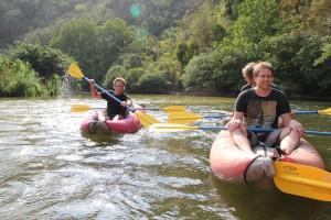 Padletur nedover Rio Palomino River (Foto: Tarjei)