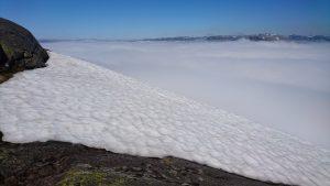 Snø på kanten, hvitt teppe over fjorden (Foto: Tarjei)