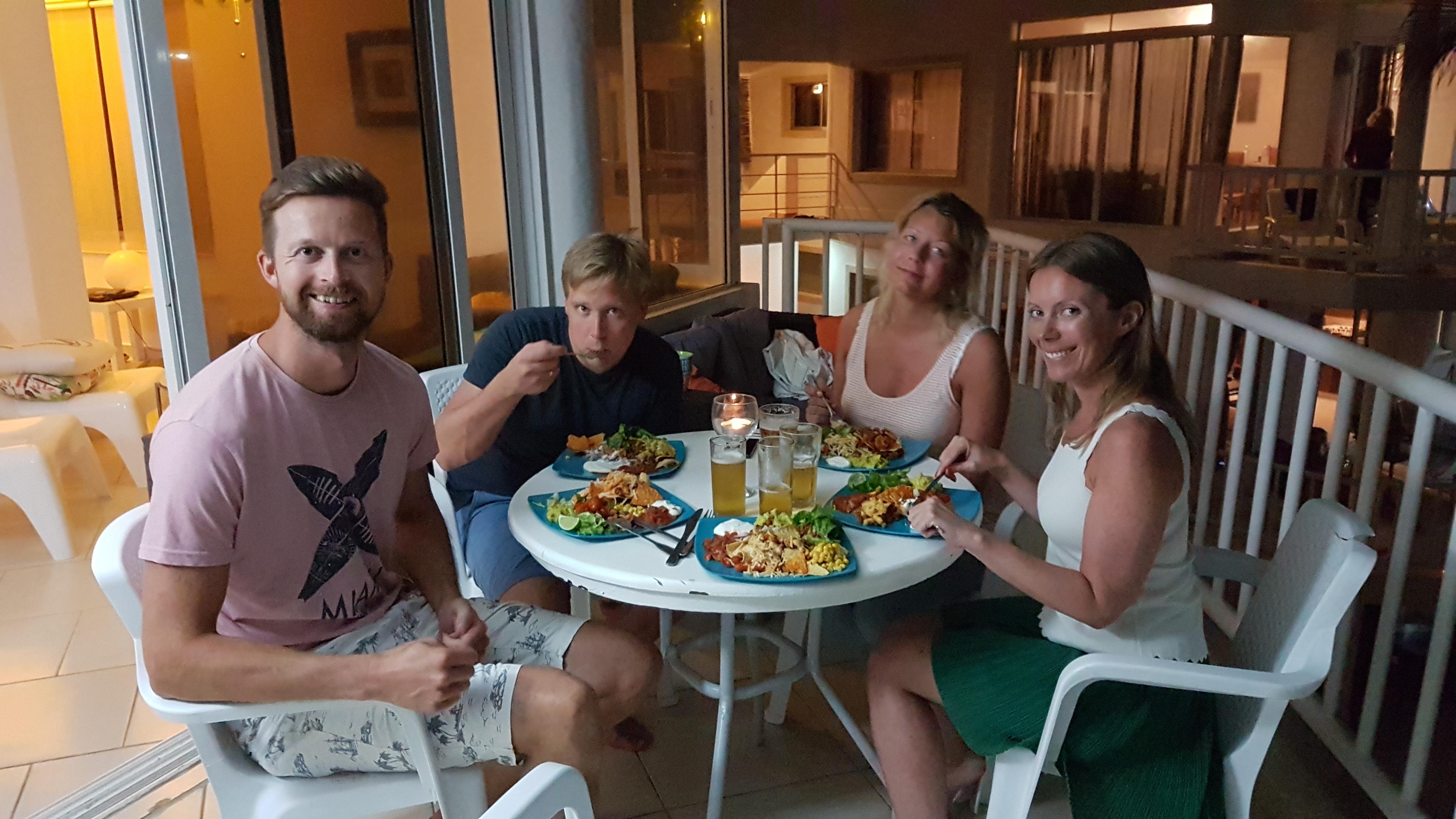 Kite Beach, middag