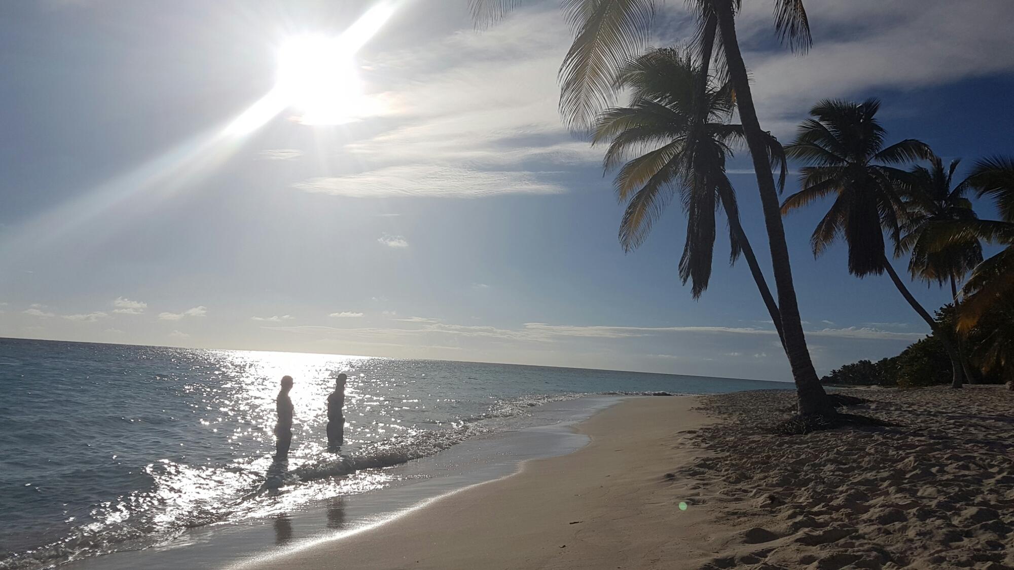 På stranda